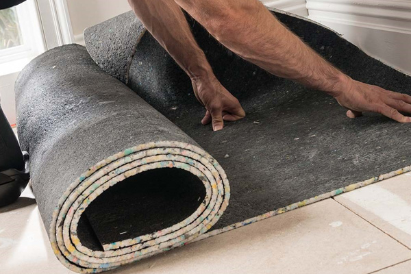 fitting carpet underlay